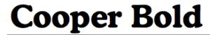 Cooper Bold font sample